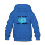 """Be Positive"" (black) - Kids' Sweatshirt royal blue / S - LabRatGifts - 3"