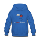 """A-Mean-Oh Acid"" - Kids' Sweatshirt royal blue / S - LabRatGifts - 2"