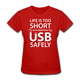 """Life is too Short"" (white) - Women's T-Shirt red / S - LabRatGifts - 4"