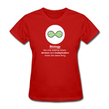 """Biology Division"" - Women's T-Shirt red / S - LabRatGifts - 4"