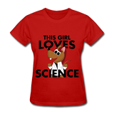 """This Girl Loves Science"" (red) - Women's T-Shirt red / S - LabRatGifts - 5"