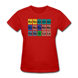 """Lady Gaga Periodic Table"" - Women's T-Shirt red / S - LabRatGifts - 4"
