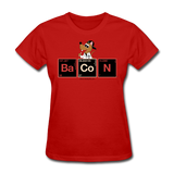 """Bacon Periodic Table"" - Women's T-Shirt red / S - LabRatGifts - 7"