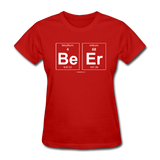 """BeEr"" - Women's T-Shirt red / S - LabRatGifts - 5"