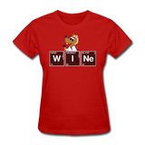 """Wine Periodic Table"" - Women's T-Shirt red / S - LabRatGifts - 6"