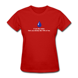 """If You Like Water"" - Women's T-Shirt red / S - LabRatGifts - 6"