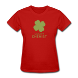 """Lucky Chemist"" - Women's T-Shirt red / S - LabRatGifts - 8"
