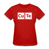 """CuTe"" - Women's T-Shirt red / S - LabRatGifts - 3"