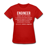 """Engineer"" (white) - Women's T-Shirt red / S - LabRatGifts - 8"