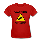 """Warning Compressed Gas Inside"" - Women's T-Shirt red / S - LabRatGifts - 8"