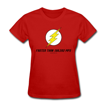 """Faster than 186,282 MPS"" - Women's T-Shirt red / S - LabRatGifts - 1"