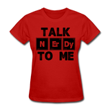 """Talk NErDy To Me"" (black) - Women's T-Shirt red / S - LabRatGifts - 3"