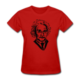 """Albert Einstein"" - Women's T-Shirt red / S - LabRatGifts - 10"