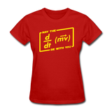 """May the Force Be With You"" - Women's T-Shirt red / S - LabRatGifts - 4"