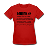 """Engineer"" (black) - Women's T-Shirt red / S - LabRatGifts - 8"
