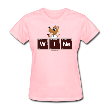 """Wine Periodic Table"" - Women's T-Shirt pink / S - LabRatGifts - 1"