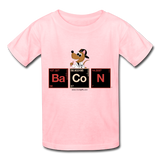 """Bacon Periodic Table"" - Kids T-Shirt pink / XS - LabRatGifts - 4"