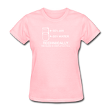 """Technically the Glass is Completely Full"" - Women's T-Shirt pink / S - LabRatGifts - 11"