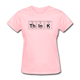 """ThInK"" (black) - Women's T-Shirt pink / S - LabRatGifts - 1"