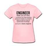 """Engineer"" (black) - Women's T-Shirt pink / S - LabRatGifts - 2"