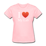 """I ♥ My Lab"" (white) - Women's T-Shirt pink / S - LabRatGifts - 10"