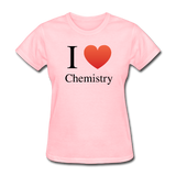 """I ♥ Chemistry"" (black) - Women's T-Shirt pink / S - LabRatGifts - 4"