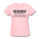 """Research"" (black) - Women's T-Shirt pink / S - LabRatGifts - 2"