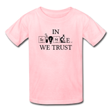 """In Science We Trust"" (black) - Kids' T-Shirt pink / XS - LabRatGifts - 2"