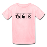 """ThInK"" (black) - Kids' T-Shirt pink / XS - LabRatGifts - 3"