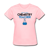 """World's Best Chemistry Teacher"" - Women's T-Shirt pink / S - LabRatGifts - 2"