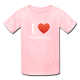 """I ♥ Microbiology"" (white) - Kids' T-Shirt pink / XS - LabRatGifts - 2"