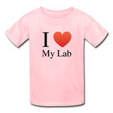 """I ♥ My Lab"" (black) - Kids' T-Shirt pink / XS - LabRatGifts - 2"