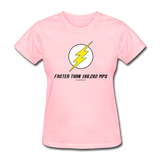 """Faster than 186,282 MPS"" - Women's T-Shirt pink / S - LabRatGifts - 2"