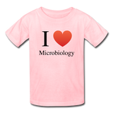 """I ♥ Microbiology"" (black) - Kids' T-Shirt pink / XS - LabRatGifts - 2"