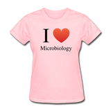 """I ♥ Microbiology"" (black) - Women's T-Shirt pink / S - LabRatGifts - 4"
