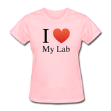 """I ♥ My Lab"" (black) - Women's T-Shirt pink / S - LabRatGifts - 4"