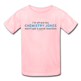 """Chemistry Jokes"" - Kids' T-Shirt pink / XS - LabRatGifts - 2"