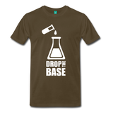 """Drop the Base"" (white) - Men's T-Shirt noble brown / S - LabRatGifts - 7"