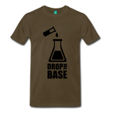 """Drop the Base"" (black) - Men's T-Shirt noble brown / S - LabRatGifts - 7"