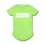 """BaCoN"" - Baby Short Sleeve One Piece kiwi / Newborn - LabRatGifts - 2"