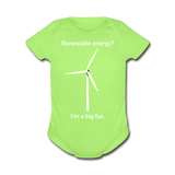 """I'm a Big Fan"" - Baby Short Sleeve One Piece kiwi / Newborn - LabRatGifts - 2"