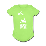 """Drop the Base"" - Baby Short Sleeve One Piece kiwi / Newborn - LabRatGifts - 2"