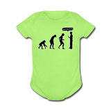 """Stop Following Me"" - Baby Short Sleeve One Piece kiwi / Newborn - LabRatGifts - 2"
