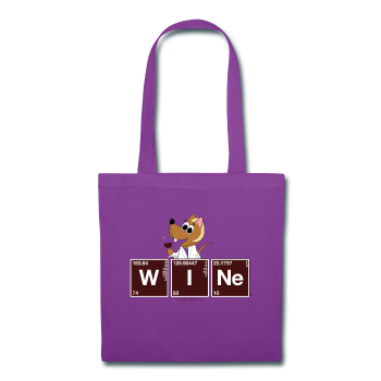 """WINe Periodic Table"" - Tote Bag purple / One size - LabRatGifts - 1"