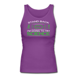 """Stand Back"" - Women's Tank Top purple / S - LabRatGifts - 2"