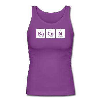 """BaCoN"" - Women's Tank Top purple / S - LabRatGifts - 1"