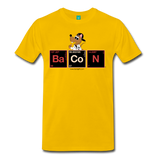 """BaCoN Periodic Table"" - Men's T-Shirt sun yellow / S - LabRatGifts - 10"