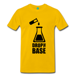 """Drop the Base"" (black) - Men's T-Shirt sun yellow / S - LabRatGifts - 3"
