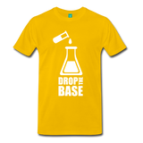"""Drop the Base"" (white) - Men's T-Shirt sun yellow / S - LabRatGifts - 3"