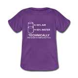 """Technically the Glass is Full"" - Baby Lap Shoulder T-Shirt purple / Newborn - LabRatGifts - 2"